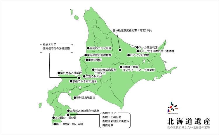 「北海道遺産」パノラマギャラリーを追加しました。